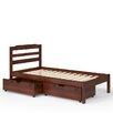 Manhattan Comfort Hayden Twin Slat Bed with Drawers