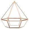Diamond Geometric Table Glass Terrarium - Color: Rose Gold/Copper - Koyal Wholesale Planters