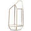 Irregular Geometric Table Glass Terrarium - Color: Rose Gold/Copper - Koyal Wholesale Planters