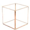 Cube Geometric Table Glass Terrarium - Color: Rose Gold/Copper, Size: 4 inch High x 4 inch Wide x 4 inch Deep - Koyal Wholesale Planters
