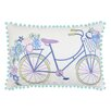 Vue by Ellery Bicycle Embroidered Decorative Throw Pillow