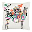 Vue by Ellery Zebra Embroidered Decorative Throw Pillow