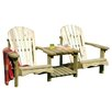 Zest 4 Leisure Lily 2 Seater Timber Love Seat