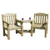Zest 4 Leisure Emily 2 Seater Timber Love Seat