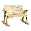 Zest 4 Leisure Abbey 2 Seater Wooden Rocking Bench