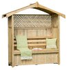 Zest 4 Leisure Hampshire 3 Seater Arbour with Storage Box