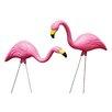 2 Piece Pink Flamingo Garden Stake Set - Bloem Garden Statues and Outdoor Accents