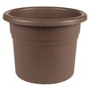 Posy Plastic Pot Planter - Size: 5.25 inch High x 6 inch Wide x 6 inch Deep - Color: Chocolate - Bloem Planters