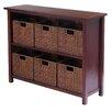 "Winsome Milan Low Storage Shelf 30"" Standard Bookcase"