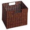 Winsome Walnut Small Storage Basket (Set of 2)