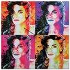Metal Art Studio 'Michael Jackson' Colorful Urban Pop Art Wall Clock
