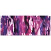 Metal Art Studio 'Watercolor Composition Purple' Painting Print on Canvas