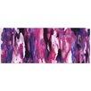 Metal Art Studio 'Watercolor Composition Purple' Painting Print Plaque