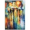 Metal Art Studio 'Rainy Etude' by Leonid Afremov Painting Print Plaque