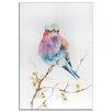 Metal Art Studio 'Lilac Bird' by Sophia Rodionov Painting Print Plaque