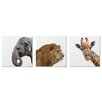 Metal Art Studio 'Wild Africa' by Adam Schwoeppe 3 Piece Painting Print on Wrapped Canvas Set
