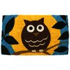 Entryways Handmade Wise Owl Doormat