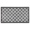Entryways Recycled Rubber Circle Chains Doormat