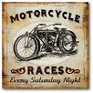 Courtside Market Farmhouse Canvas Motorcycle Race Gallery Wrapped Canvas