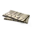 Hip Vintage Barcode Wool Throw