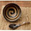 Kindwer 2 Piece Horn Swirl Serving Bowl Set