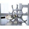Kindwer 6 Bottle Polished Aluminum Wine Rack