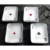 Kindwer 4 Piece Playing Card Aces Snack Dish Set