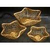 Kindwer 3 Piece Gilded Wire Star Basket Set