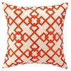 Courtney Cachet Chain Link Embroidered Decorative Linen Throw Pillow