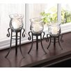 Zingz & Thingz 3 Piece Allure Candle Stand Trio Set