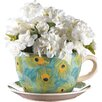 Peacock Novelty Dolomite Pot Planter with Saucer - Zingz & Thingz Planters
