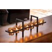 Zingz & Thingz Sunset Bridge Iron and Glass Candelabra