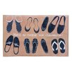 Zingz & Thingz French Shoes Floor Mat