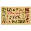 Zingz & Thingz Live Love Laugh Entry Way Doormat