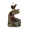 Stone Powder, Resin and Glass Majestic Eagle Water Fountain - Zingz & Thingz Indoor and Outdoor Fountains