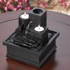 Acrylic Temple Steps Polyresin Tabletop Fountain with Light - Zingz & Thingz Indoor and Outdoor Fountains