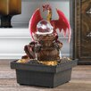 Acrylic Red Dragon Tabletop Plastic Water Fountain with LED Light - Zingz & Thingz Indoor and Outdoor Fountains