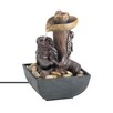 Resin Western Tabletop Water Fountain with LED Light - Zingz & Thingz Indoor and Outdoor Fountains