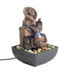 Resin Cowboy Gear Tabletop Water Fountain with LED Light - Zingz & Thingz Indoor and Outdoor Fountains