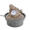 Happy Buddha Tabletop Water Fountain with LED Light - Zingz & Thingz Indoor and Outdoor Fountains