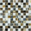 "Faber Baroque 1"" x 1"" Gloss Glass Mosaic Tile in Corallo"