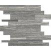 "Faber Eramosa Series 14"" x 12"" Porcelain Matte Mosaics in Carbon"
