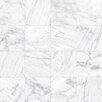 "Faber Carrara Porcelain Glossy 6"" x 12"" High Definition Tile in White"