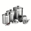 Tramontina Gourmet 8-Piece Stainless Steel Canister and Scoop Set