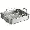 "Tramontina Gourmet Prima 16.5"" Deep Roasting Pan with Basting Grill and Rack"