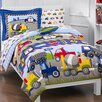 Dream Factory Trains & Trucks 5 Piece Twin Bed Set