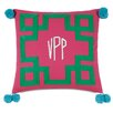 Hen Feathers Epic Preppy Embroidered 3-Letter Monogram Down Throw Pillow