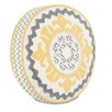 Hen Feathers Epic Sunshine Suzani Tambourine Down Throw Pillow