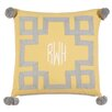 Hen Feathers Epic Sunshine Embroidered 3-Letter Monogram Down Throw Pillow