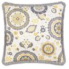 Hen Feathers Epic Sunshine Kennedy Sunshine Pleated Ribbon Down Throw Pillow
